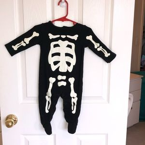 Carters Skeleton Halloween Jumpsuit Outfit 9 month